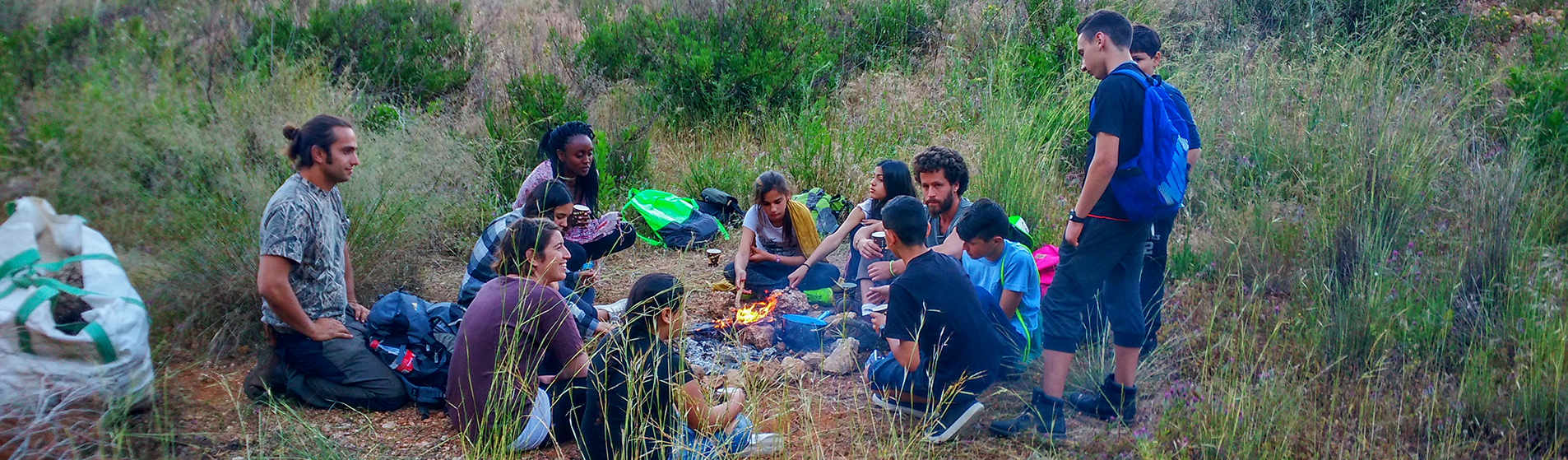 students activity in nature