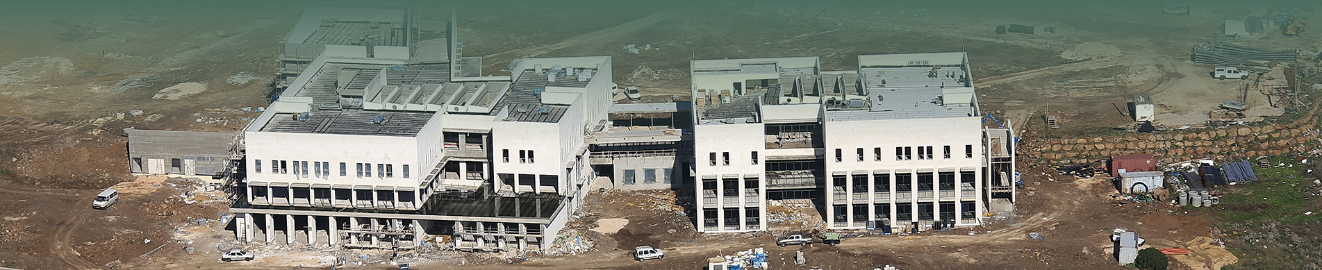 The campus under construction